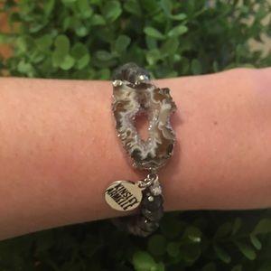 Kinsley Armelle Stretch Geode Bracelet